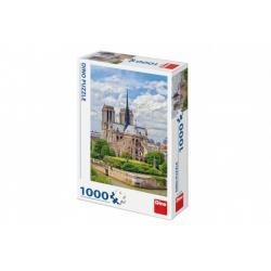 Puzzle Katedrála Notre-Dame, Paříž 47x66cm 1000 dílků v krabici 23x32x7cm