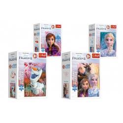 Minipuzzle miniMaxi 20 dílků Ledové království II/Frozen II 4 druhy v krabičce 11x8x4cm 24ks v boxu