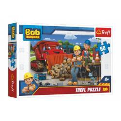 Puzzle Bob a Wendy/Bořek Stavitel 33x22cm 60 dílků v krabici 21x14x4cm