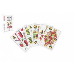 Mariáš MINI dvouhlavý společenská hra karty 32ks v papírové krabičce 5x7cm