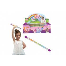 Hůlka se třpytkami jednorožec plast 31 cm 36ks v boxu karneval