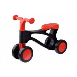 Odrážedlo Rolocykl černo-červený plast výška sedadla 26cm 18m-36m