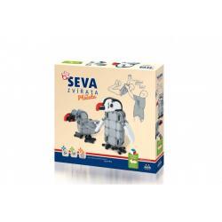 Stavebnice SEVA ZVÍŘATA Ptáčata plast 347 dílků v krabici 35x33x5cm