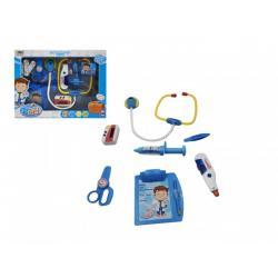 Sada doktor/ lékař stetoskop na baterie plast v krabici 37x28x6cm