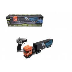 Auto/Kamion RC s návěsem plast 45cm 2,4 GHz na baterie v krabici 56,5x18x13,5cm