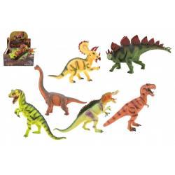 Dinosaurus 25-32cm plast 6 druhů 6 ks v boxu