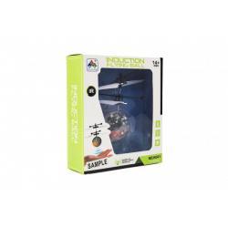 Vrtulníková koule bar. létající plast reagující na pohyb ruky s USB kab. 3 barvy v krab. 16x18,5x5,5