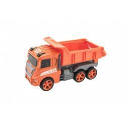 Auto stavební kov/plast na setrvačník 12cm 4 druhy 12ks v boxu