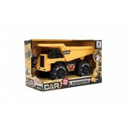 Auto stavební plast na setrvačník 20cm na baterie se zvukem se světlem v krabici 24x15x12cm