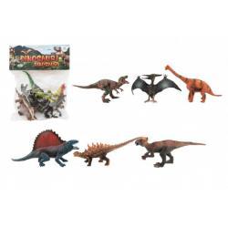 Dinosaurus plast 14-19cm 6ks v sáčku