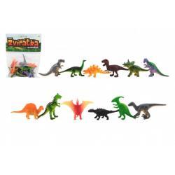 Zvířátka dinosauři mini plast 6-7cm 12ks v sáčku
