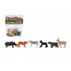 Zvířátka mini safari ZOO plast 5-6cm 12ks v sáčku