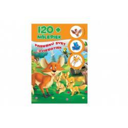 Kniha so samolepkami 120+ Farebný svet zvieratiek SK verzia 21x30cm