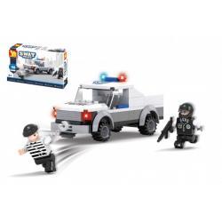Stavebnice Dromader Swat auto policie 98 dílků v krabičce 19x13x5cm
