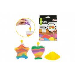 Kreativní sada výroba z písku barevné nádoby v krabičce 13x18x3cm