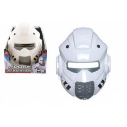 Maska vesmírný ochránce plast 22x17cm 12ks v boxu karneval