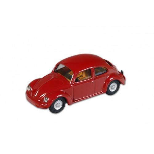 Auto VW brouk 1200 červený kov 11cm v krabičce Kovap