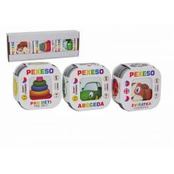 Pexeso 3ks Abeceda, Zvířátka, Pro děti společenská hra v krabičce 8x21x4cm Hmaťák