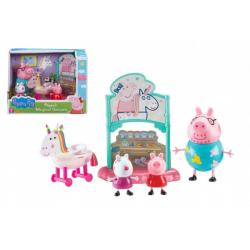 Prasátko Peppa/Peppa Pig sada s jednorožcem plast 3 figurky s doplňky v krabici 22x16x12cm