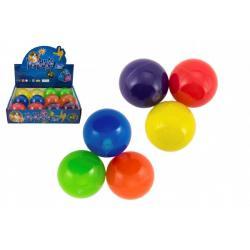 Míček skákací glitrový guma 7cm mix barev 1ks v sáčku 12 ks v boxu