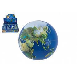 Míček skákací Země guma 7cm 1ks v sáčku 12 ks v boxu