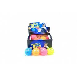 Míček antistresový mačkací sliz 7,5cm na baterie se světlem mix barev 24ks v boxu