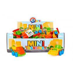 Dopravní prostředek mini plast 10-12cm na volný chod mix druhů 42ks v boxu