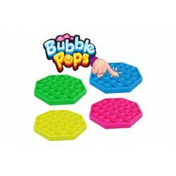 Bubble pops - Praskající bubliny silikon antistresová společenská hra 4 barev 11x11cm v sáčku