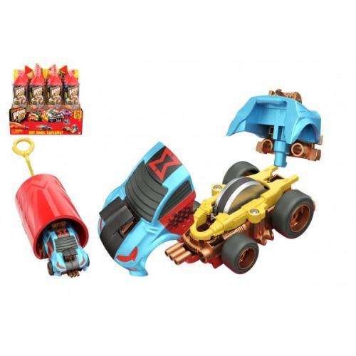 Auto Boom City Racers plast mix druhů v plastové tubě 21x6,5x6cm 12ks v boxu