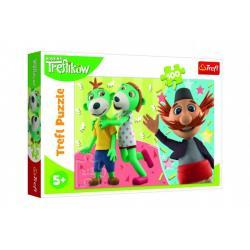 Puzzle Treflík a Strýček/Rodina Trefliků 100 dílků 41x27,5cm v krabici 29x19x4cm