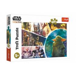Puzzle Star Wars/The Mandalorian 100 dílků 41x27,5cm v krabici 29x19x4cm