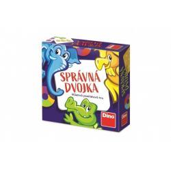 Správná dvojka společenská cestovní hra v krabičce 13x13x4cm