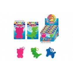 Přívěšek Bubble pops-Praskající bubliny silikon antistr. spol. hra 3druhy na kartě 10x15cm 24ks box