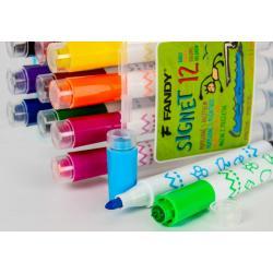 Popisovač Signet s razítkem 12 barev
