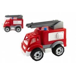 Auto hasiči plast na volný chod v síťce 19x23x30cm