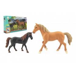 Kůň/Koně 2ks plast v krabici 36x20x6cm
