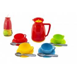 Sada nádobí na čaj plast 13ks v síťce 11x20x11cm 12m+