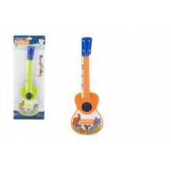 Ukulele/kytara plast 40cm s trsátkem Zvířátka a jejich kapela 2 barvy na kartě