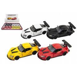 Auto Kinsmart Toyota GR Supra Racing Concept 1:36 kov 12,5cm 4 barvy na zpětné natažení 12ks v boxu