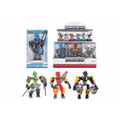 Robot bojovník plast 12cm 6 druhů v krabičce 9x15,5x4,5cm  12ks v boxu