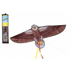 Drak létající nylon orel 138x69cm v sáčku