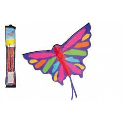 Drak létající nylon motýl 130x74cm v sáčku