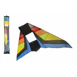 Drak létající nylon delta 183x81cm barevný v sáčku