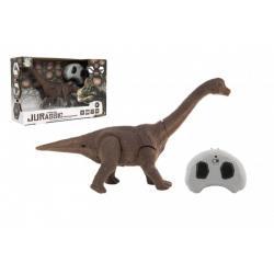 Dinosaurus na ovládání IC plast 27cm na baterie se světlem se zvukem v krabičce 33x21x10cm