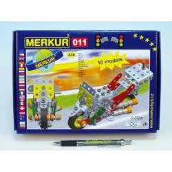Stavebnice MERKUR 011 Motocykl 10 modelů 230ks v krabici 26x18x5cm