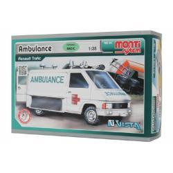 Stavebnice Monti System MS 06 Ambulance Renault Trafic 1:35 v krabici 22x15x6cm