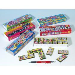 Domino společenská hra plast asst 6 druhů 28ks v krabičce 21x6x3cm