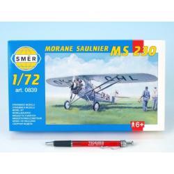 Model Morane Saulnier MS 230 9,4x14,6cm v krabici 25x14,5x4,5cm