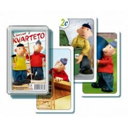 Kvarteto Pat a Mat I společenská hra - karty v plastové krabičce 6x10x2cm