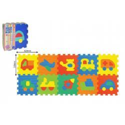 Pěnové puzzle Dopravní prostředky 32x32cm 10ks v sáčku
